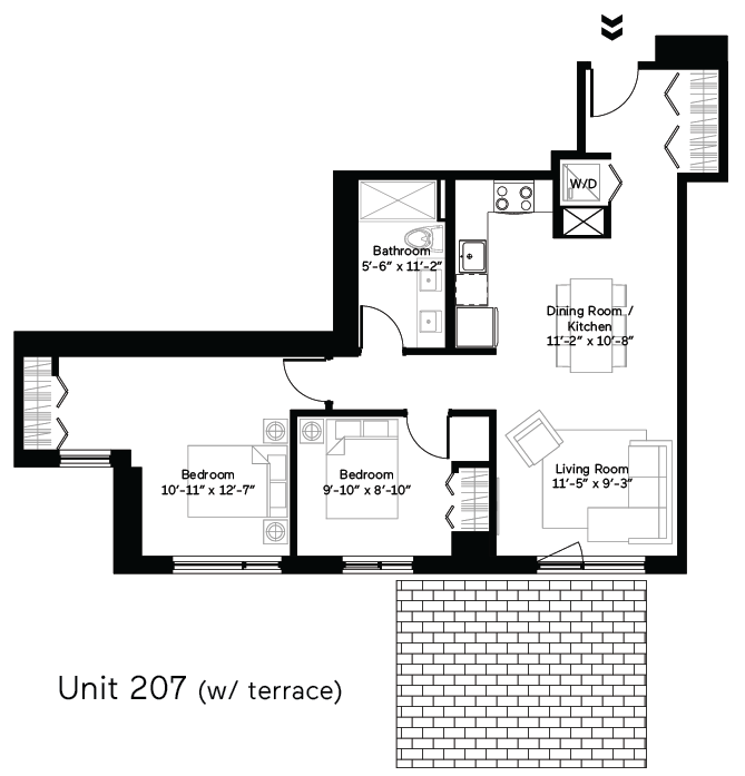 Curve (Terrace) Floor Plan