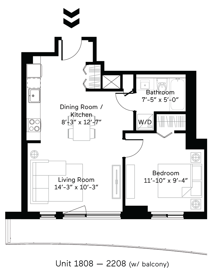 Mantle (Balcony) Floor Plan