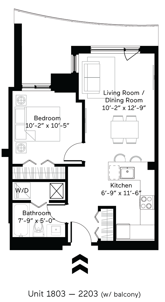 Solar (Large Balcony) Floor Plan